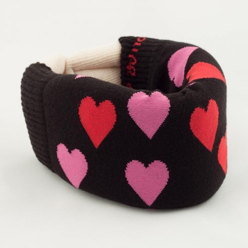Black Hearts Cervical Collar Covers