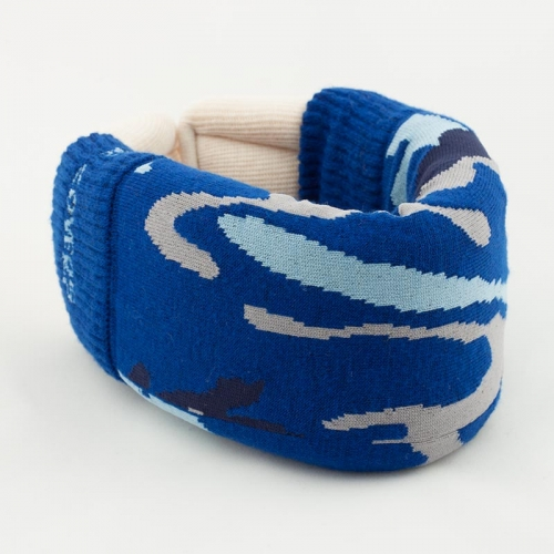 Blue Camo Cervical Collar Cover