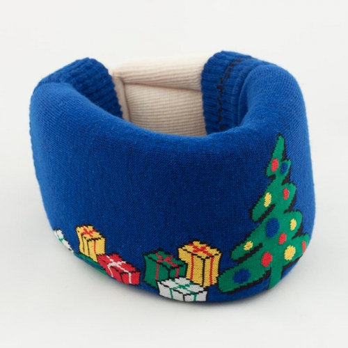 Blue Christmas Cervical Collar Cover