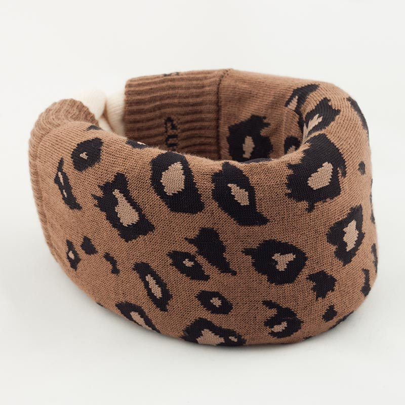 Brown Leopard Cervical Collar Cover