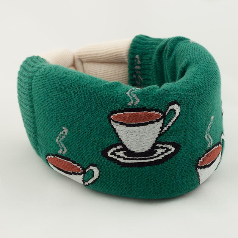 Green Coffee Cervical Collar Cover