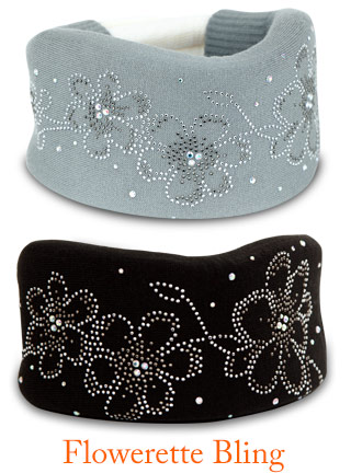 Popular collar cover styles: Gray and Black with Flowerette Bling