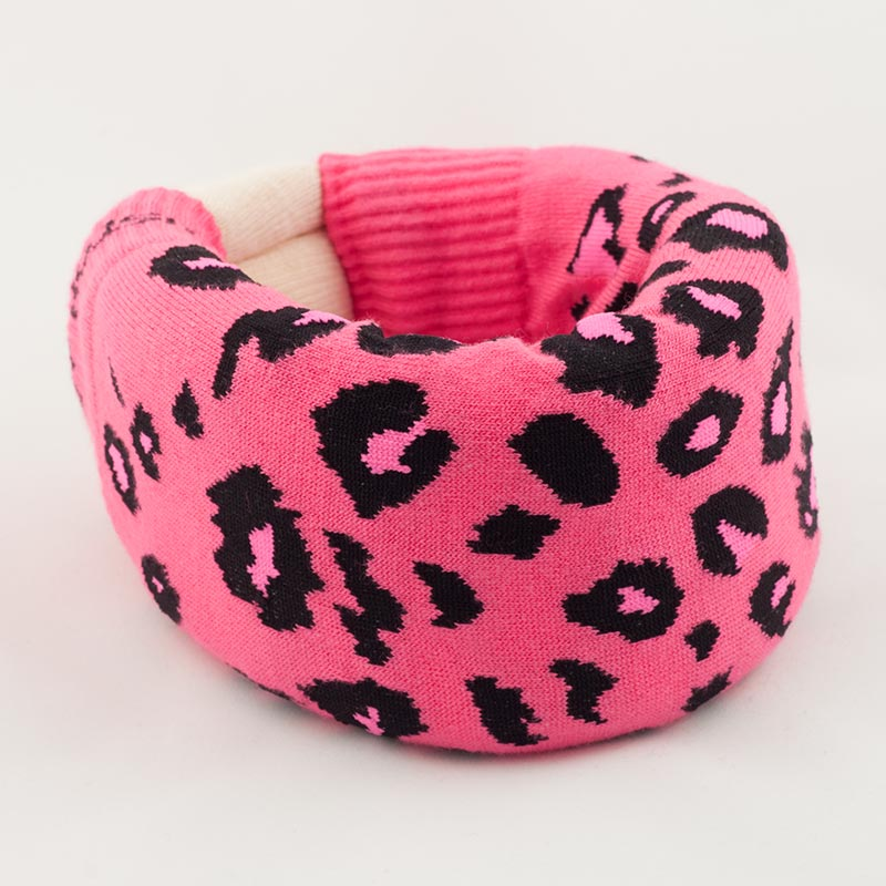 Pink Leopard Cervical Collar Cover