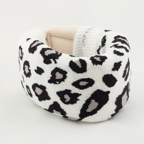 White Leopard Cervical Collar Cover