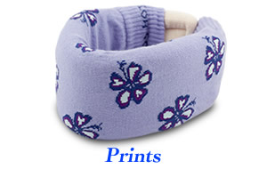 Cervical neck collar covers with print patterns!