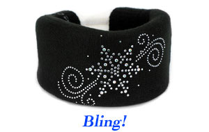 Solid colored neck collar covers with decorative bling!
